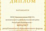 Краснохолмская СОШ №1 – в тридцатке лучших электронных школ Республики Башкортостан.